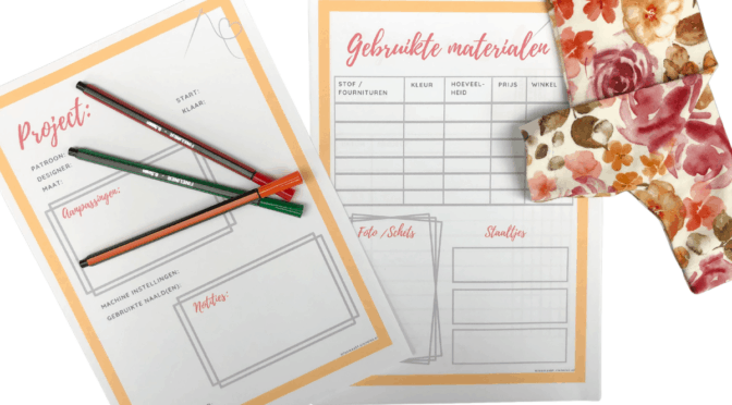 Gratis printable Sewing journal